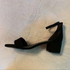 Black chunky heels